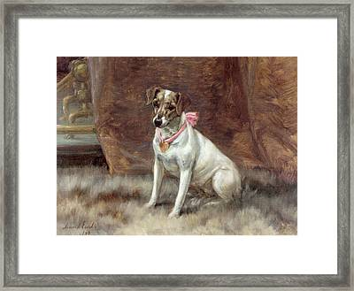 The Pink Bow Framed Print by Maud Earl