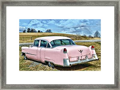 The Pink Cadillac IIi Framed Print by Kathy Jennings