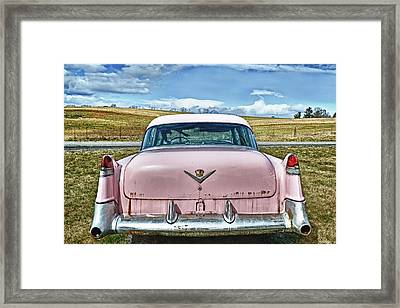 The Pink Cadillac Framed Print by Kathy Jennings