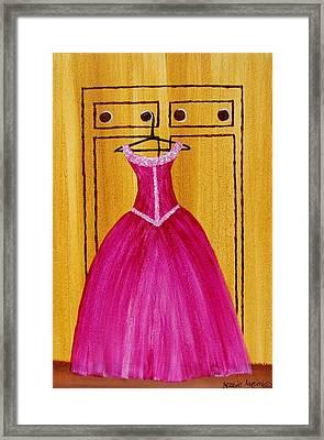 The Pink Dress 4535 Framed Print by Jessie Meier