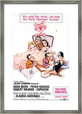 The Pink Panther, Peter Sellers, Robert Framed Print by Everett
