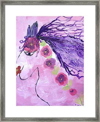 The Pink Pony Framed Print by Pretchill Smith