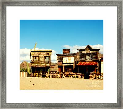 The Pioneer Hotel Old Tuscon Arizona Framed Print by Susanne Van Hulst