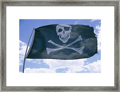 The Pirate Flag Known As The Jolly Framed Print by Stephen St. John