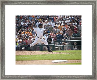 The Pitch Framed Print by Cindy Lindow