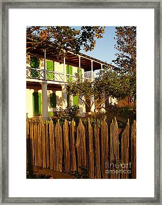 Framed Print featuring the photograph The Pitot House With Wood Fence by Jeanne  Woods