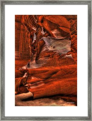 The Place Where Water Runs Through Rocks Framed Print by Darryl Gallegos
