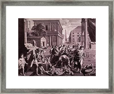 The Plague Of Ashdod Or Epidemic Among Framed Print by Everett