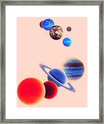 The Planets, Excluding Pluto Framed Print by Digital Vision.