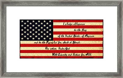 The Pledge Of Allegiance Framed Print