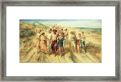 The Poet Anacreon Framed Print