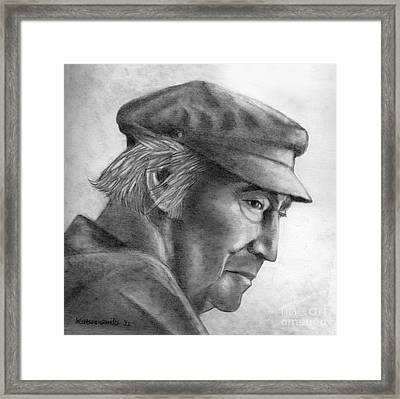 The Poet Odysseas Elitis  Framed Print by Kostas Koutsoukanidis