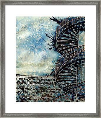 The Point Of Steps Framed Print by Cathy S R Read