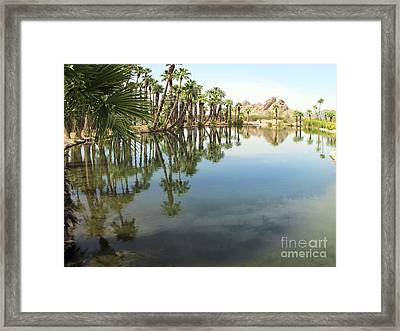 Framed Print featuring the photograph The Pond by Leslie Hunziker