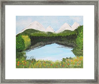 The Pond Framed Print by Lorraine Louwerse