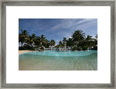 The Pool By The Sea Framed Print
