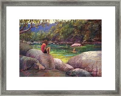 The Pool Framed Print by Pamela Pretty