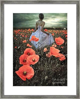 The Poppy Field  Framed Print by Eugene James