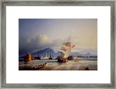 The Port Of Leith Framed Print by Paul Jean Clays