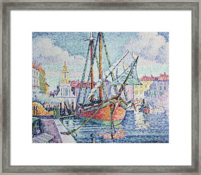 The Port Framed Print by Paul Signac