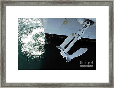 The Port Side Mark II Stockless Anchor Framed Print by Stocktrek Images