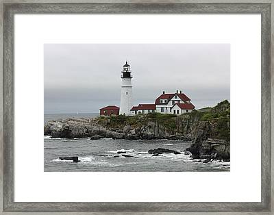 The Portland Light Framed Print by Suzanne Gaff