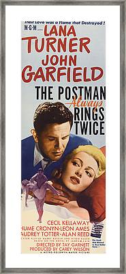 The Postman Always Rings Twice, John Framed Print