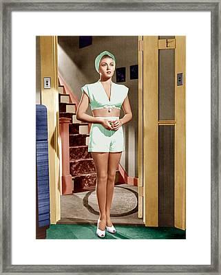 The Postman Always Rings Twice, Lana Framed Print