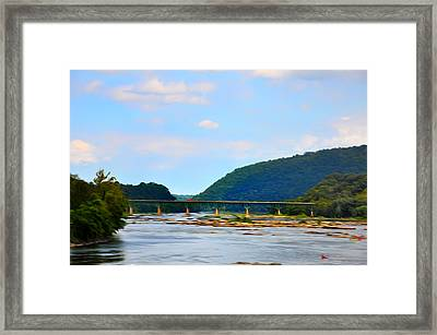 The Potomic River West Virginia Framed Print by Bill Cannon