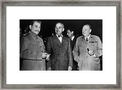 The Potsdam Conference, Josef Stalin Framed Print by Everett