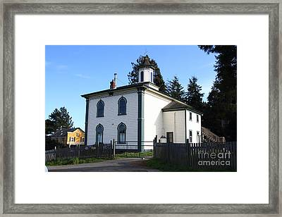 The Potter School House . Bodega Bay . Town Of Bodega . California . 7d12472 Framed Print by Wingsdomain Art and Photography