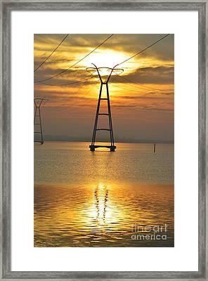 The Power Of Dawn Framed Print by Lynda Dawson-Youngclaus