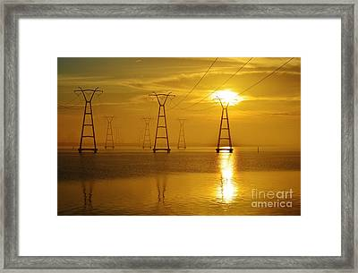 The Power Of Gold Framed Print