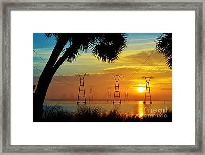 The Power Of Sunrise Framed Print