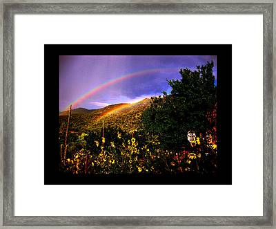 The Prayer Was Answered Framed Print by Susanne Still