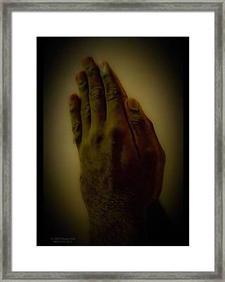 The Praying Hands Framed Print by David Alexander