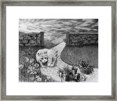 The Predator And The Prey Framed Print