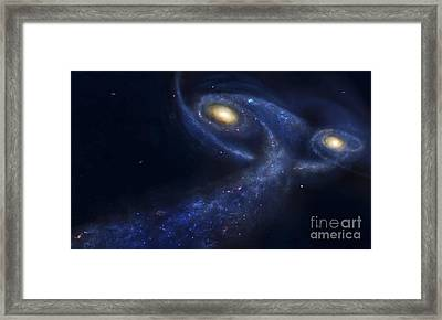 The Predicted Collision Framed Print