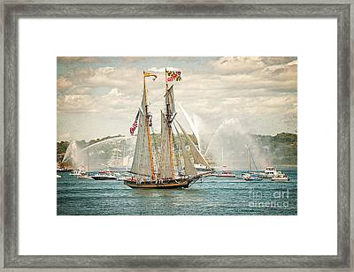Framed Print featuring the photograph The Pride Of Baltimore by Verena Matthew