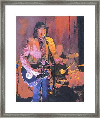 The Prime Minister Of Slambovia Framed Print by Kenneth Young