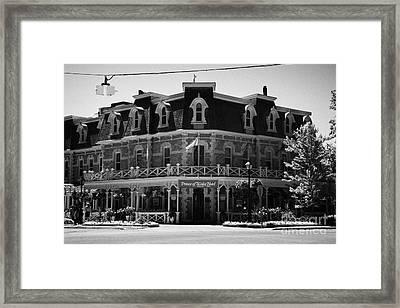 The Prince Of Wales Hotel Niagara-on-the-lake Ontario Canada Framed Print by Joe Fox