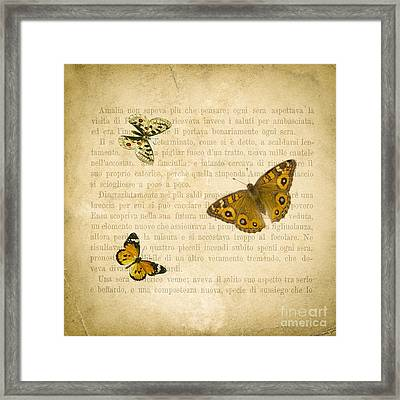 The Printed Page 1 Framed Print by Jan Bickerton