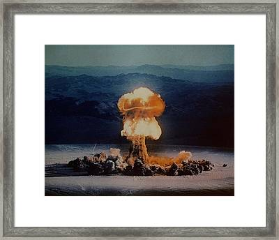 The Priscilla Shot Was A 37 Kiloton Framed Print by Everett
