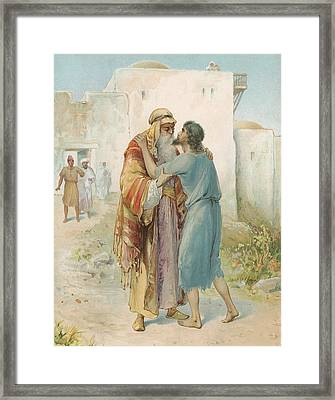 The Prodigal's Return Framed Print by Ambrose Dudley