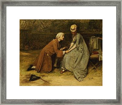 The Proposal Framed Print by John Pettie
