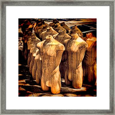 Framed Print featuring the photograph The Protest by Chris Lord