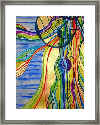 The Psychedelic Jellyfish Framed Print by Erika Swartzkopf