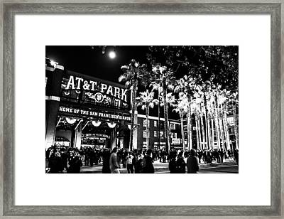 The Public House Bw Framed Print by Rick DeMartile