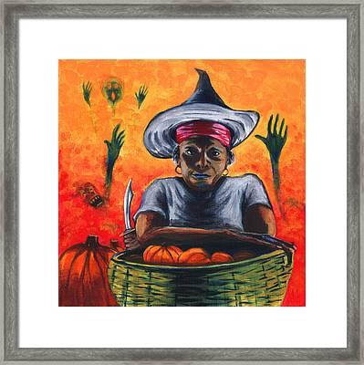 The Pumpkin Vendor  Framed Print