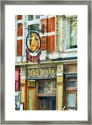 The Punch Tavern At 99 Fleet Street In London Framed Print by Steve Taylor